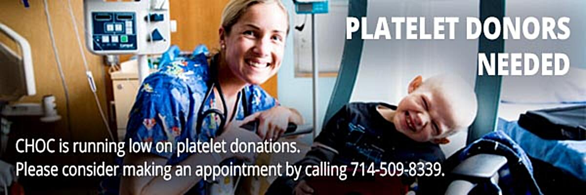 Platelet Donors Needed