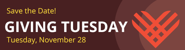 Save the Date - Giving Tuesday is November 28